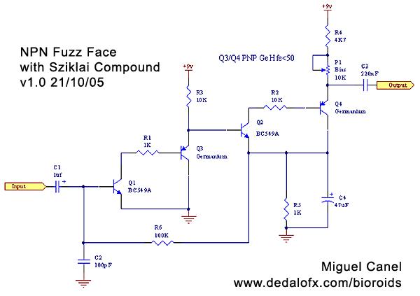 npn fuzz with sziklai transistor compound  bioroids